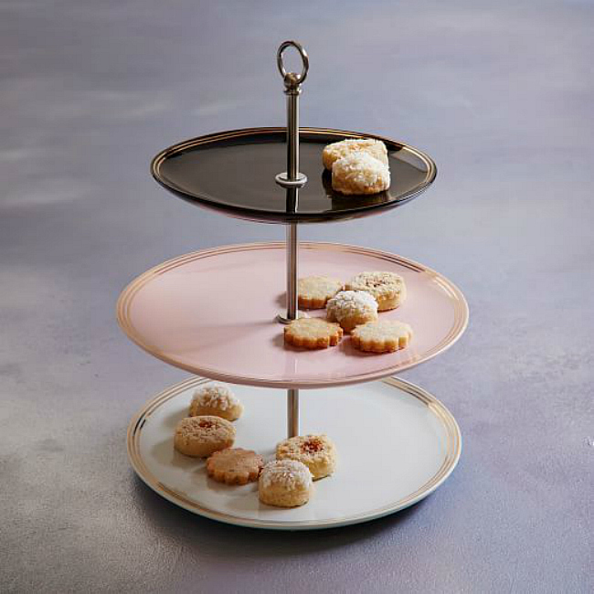 Pink petit four plate