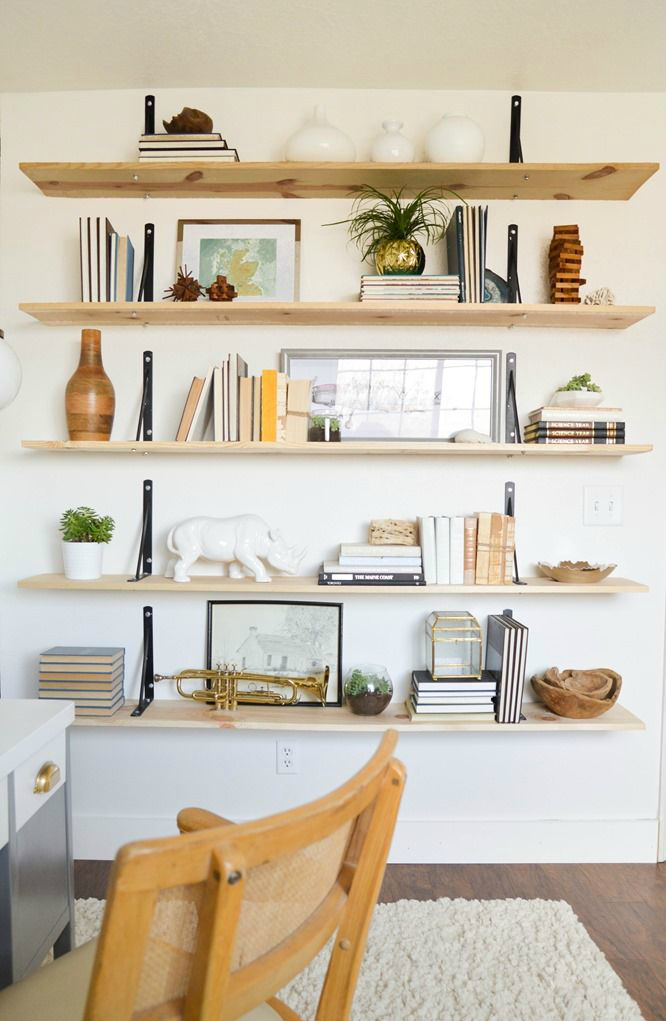 Plywood bookshelf