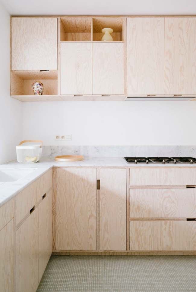 plywood cabinets - Plywood Kitchen Decor