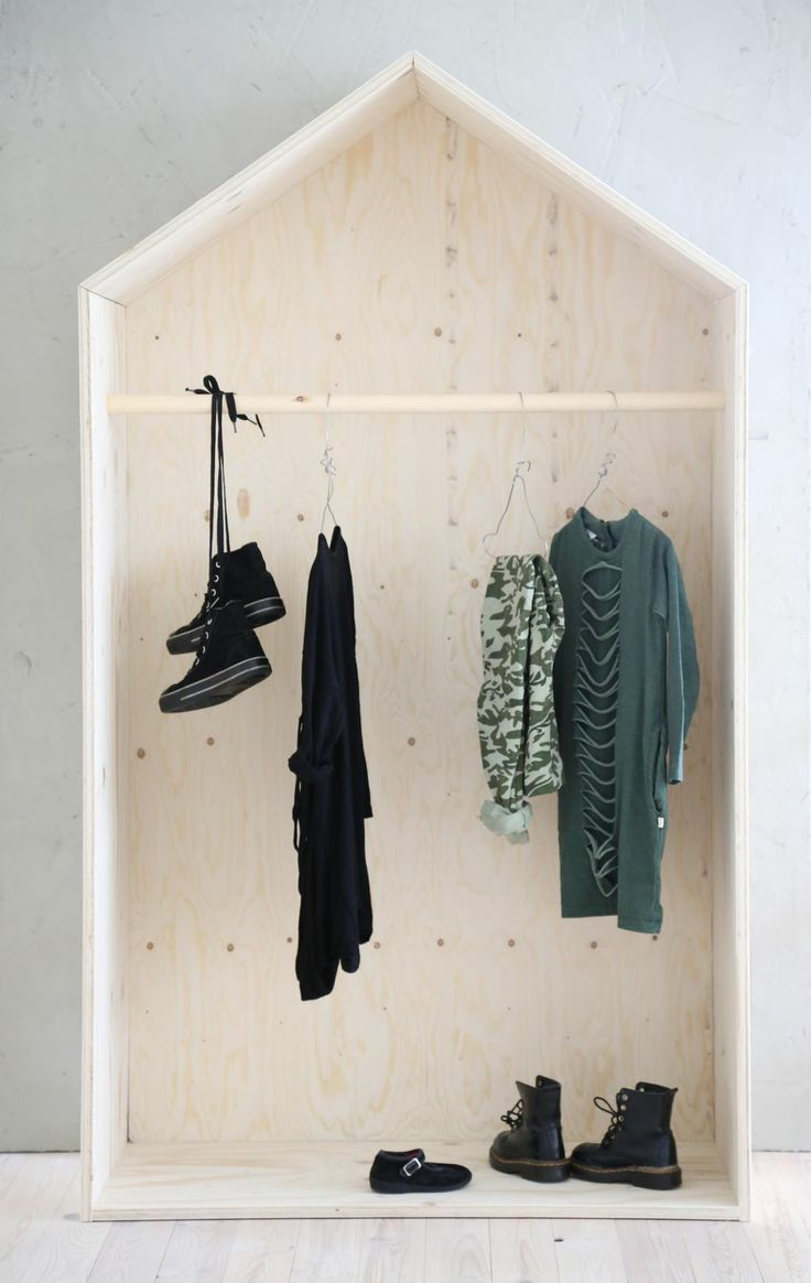 Plywood wardrobe