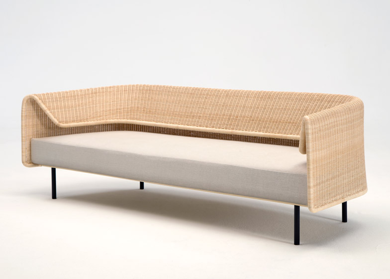 Rattan Curved Sofa From Japanese Designer Hiroomi Tahara