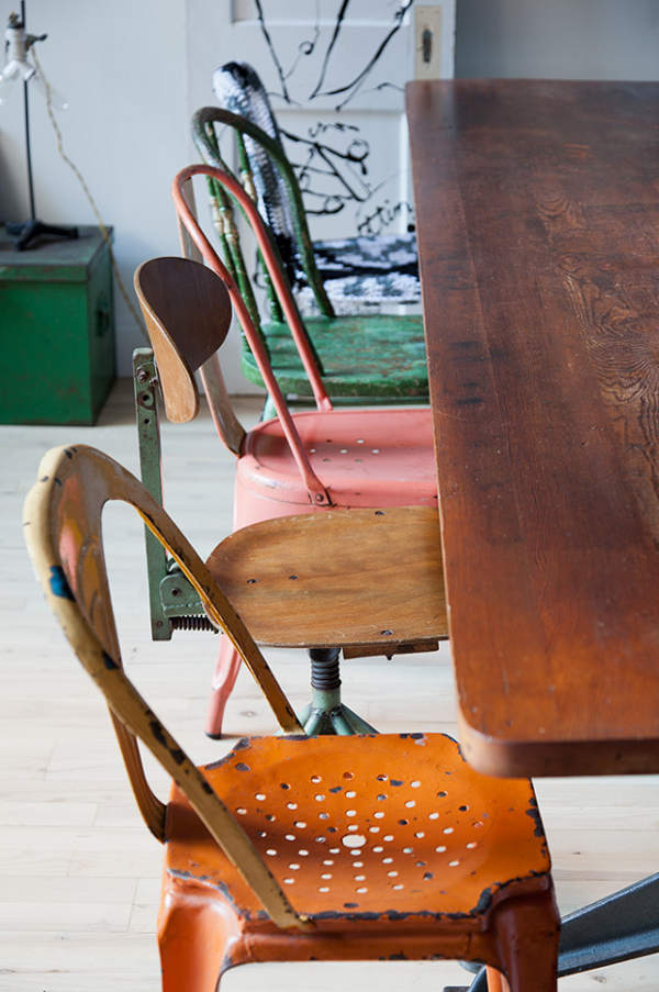Reclaimed chairs - DIY chairs for dining