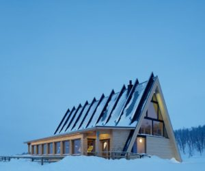 Mountain Restaurant Welcomes Skiers In The Swedish Landscape