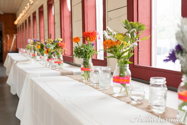 Ribbon jars flower vase