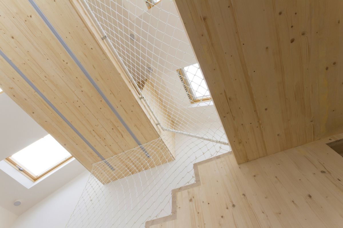 Ruetemple summer family home hammock floor from below