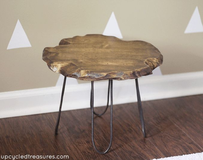 Rustic Small Coffee Table With Hairpin Legs