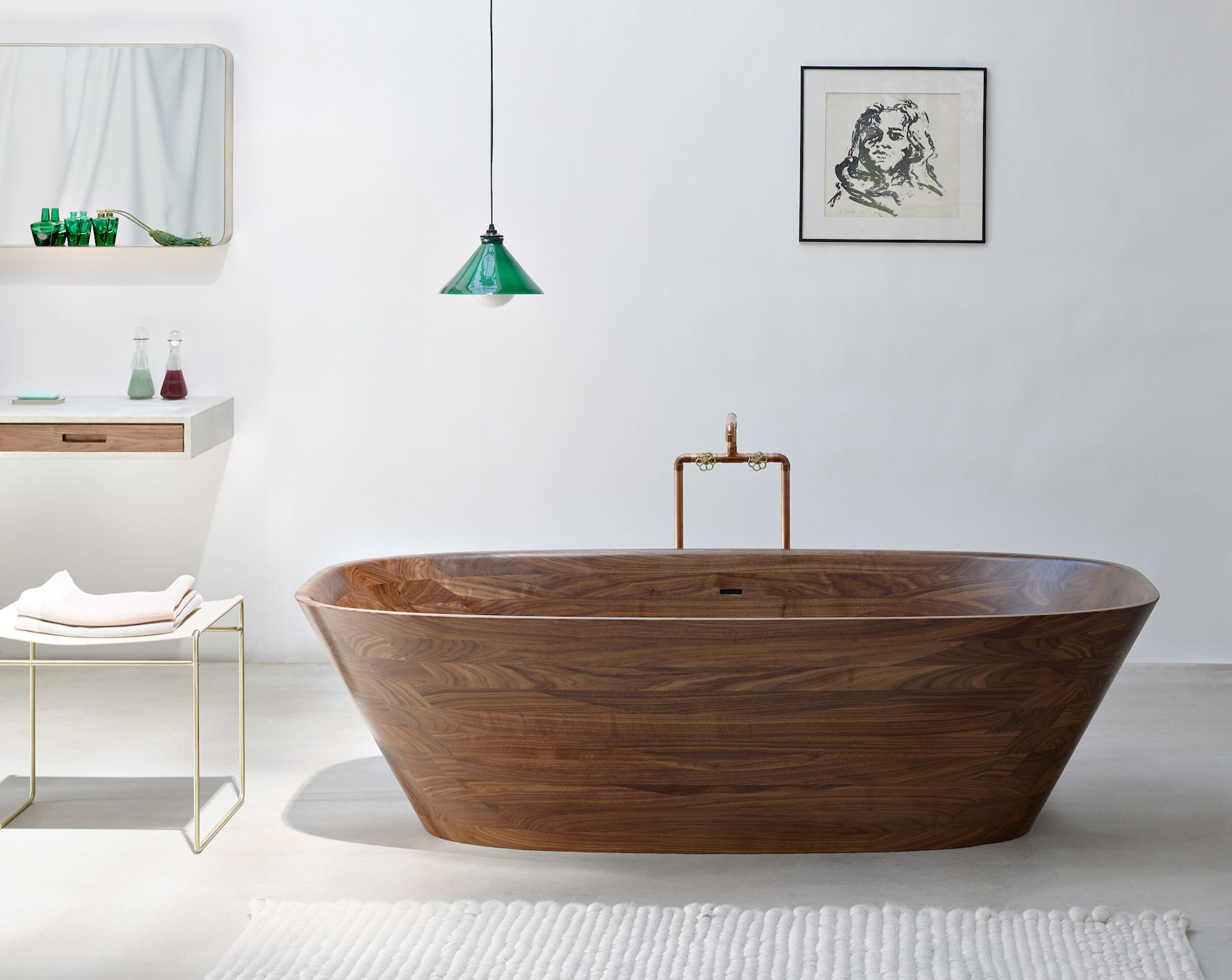 wooden bathtubs a delight for the senses and your home decor. Black Bedroom Furniture Sets. Home Design Ideas