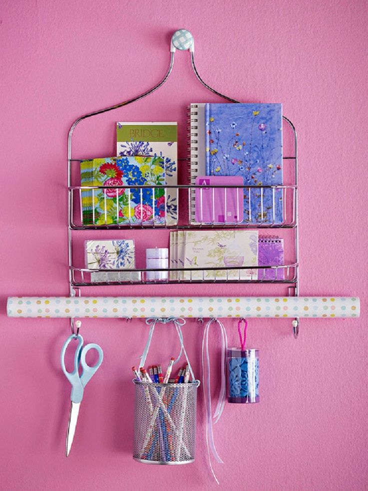Shower caddy note storage