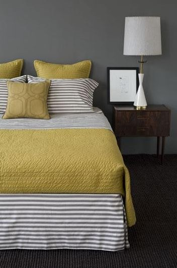 Simple striped bedding