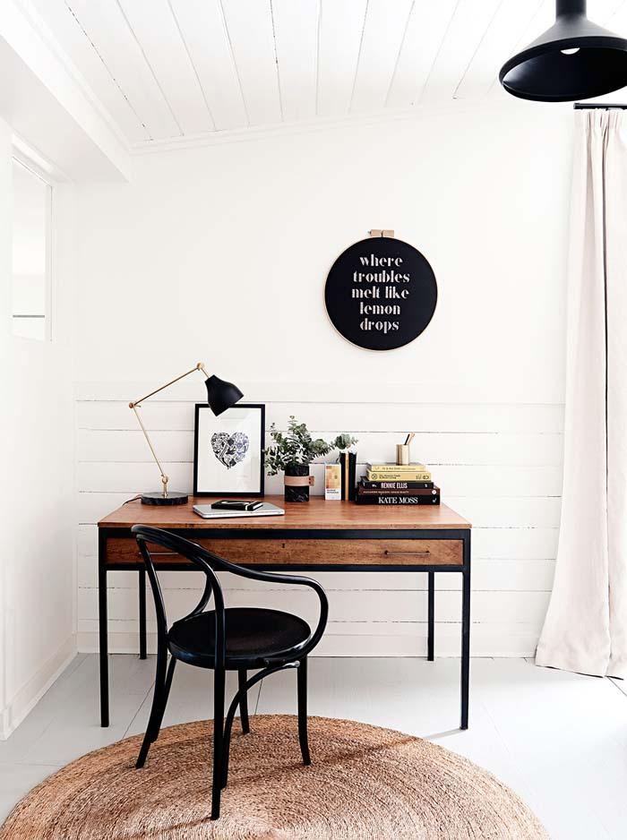 Simple white and clean desk