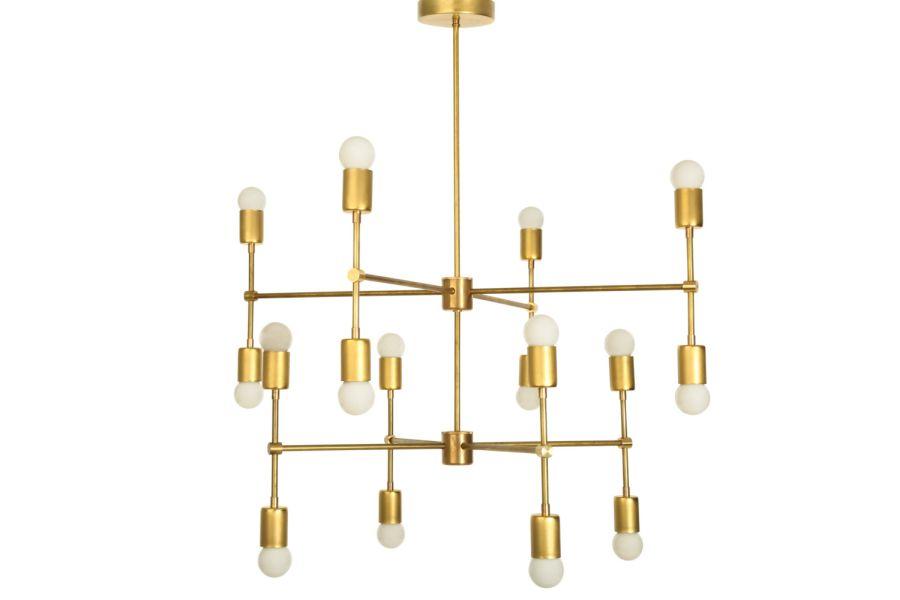 Sonoma chandelier in brass
