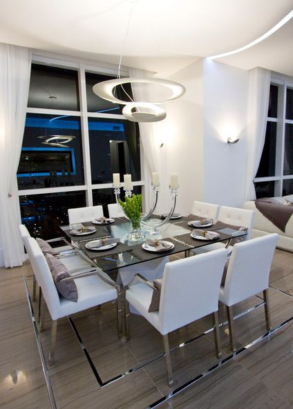 Square Dining Table With White Chairs