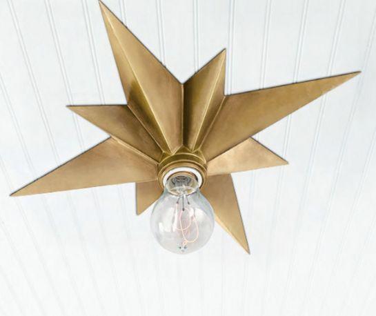 Star brass ceiling lighting