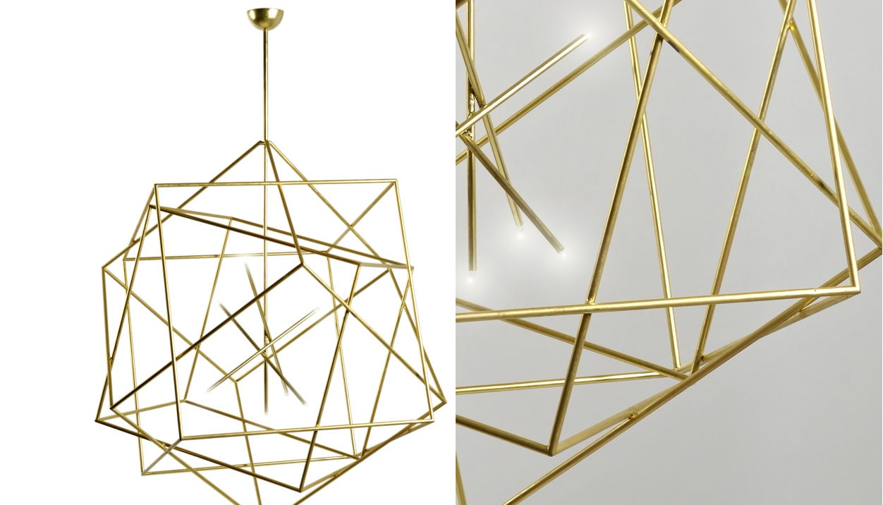 Brass Light Fixtures Steal All The Attention With Their