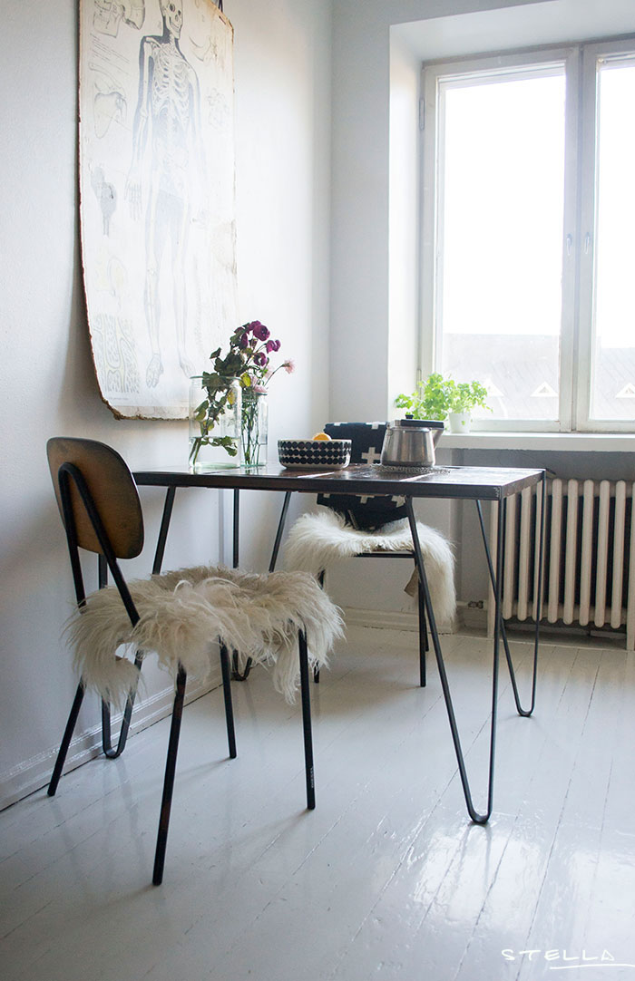 Swedish dining table and chairs