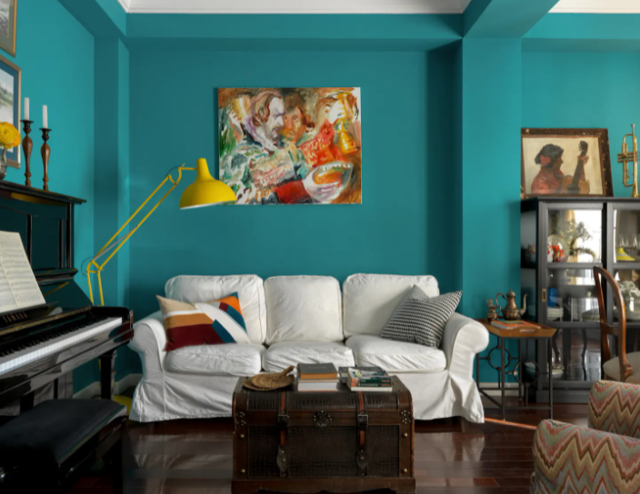 Testy Turquoise Mood paint colors