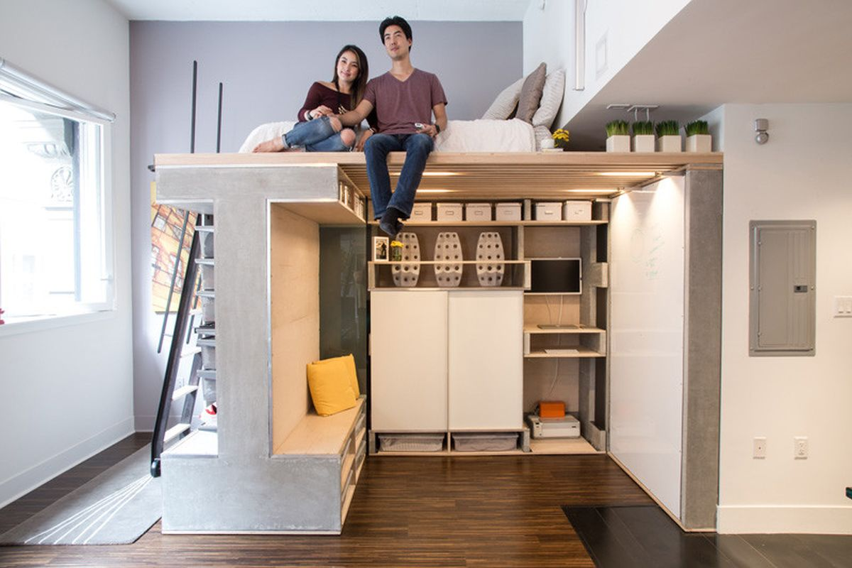 Small loft designed as a multifunctional and modern space - Ideas para loft ...