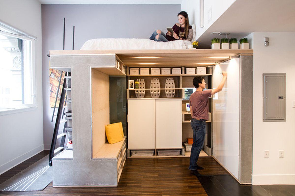 small loft furniture. The Domino Loft Fold-down Bed Small Furniture M