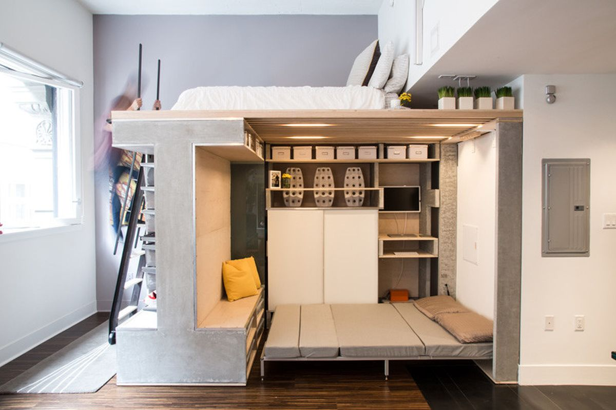 The Domino Loft guest bed
