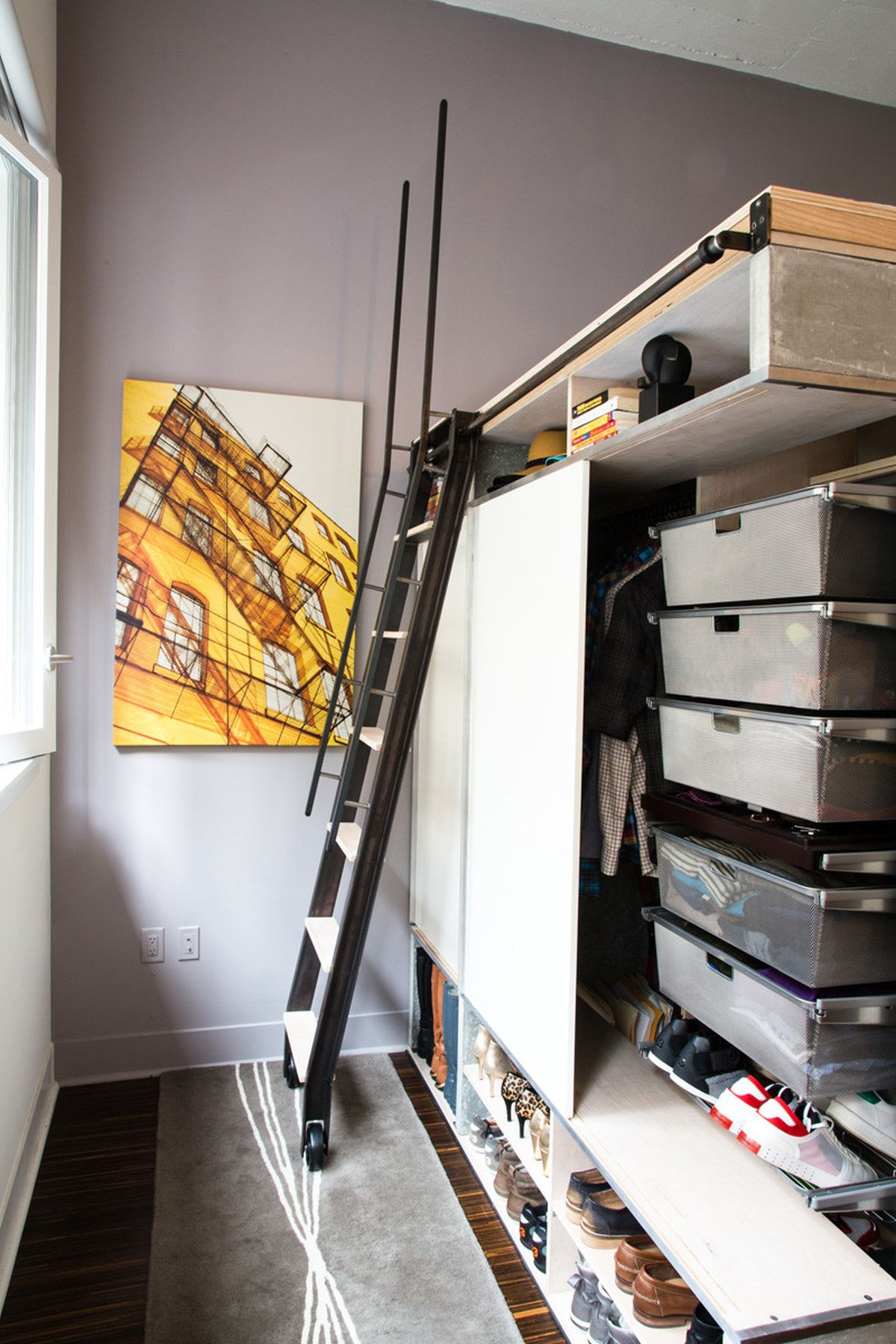 The Domino Loft ladder to loft bed