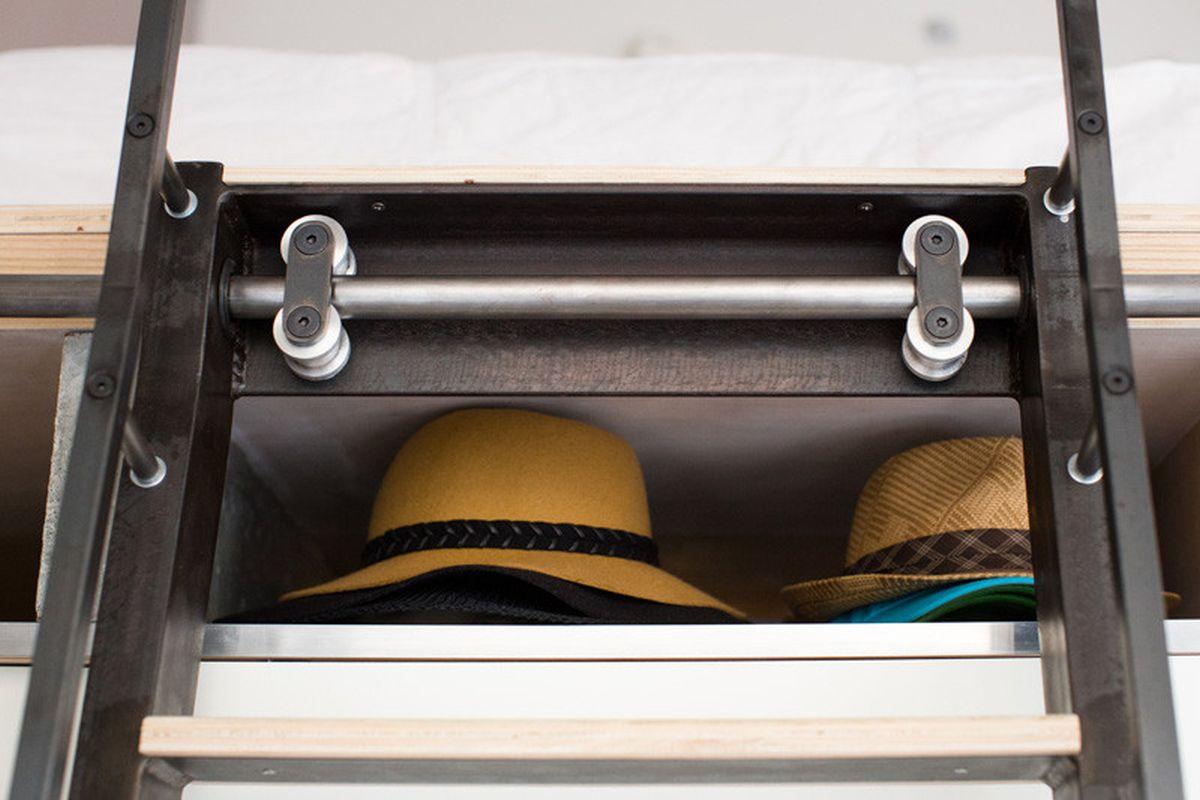 The Domino Loft shelf for hats
