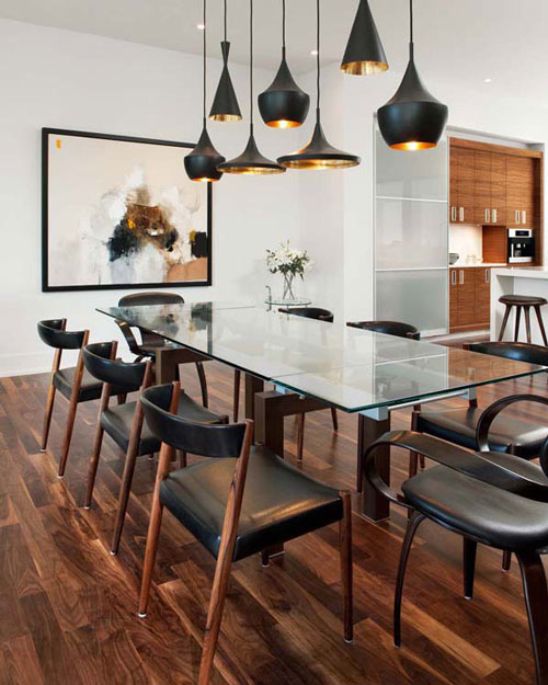 Tom dixon pendant lamps for dining table