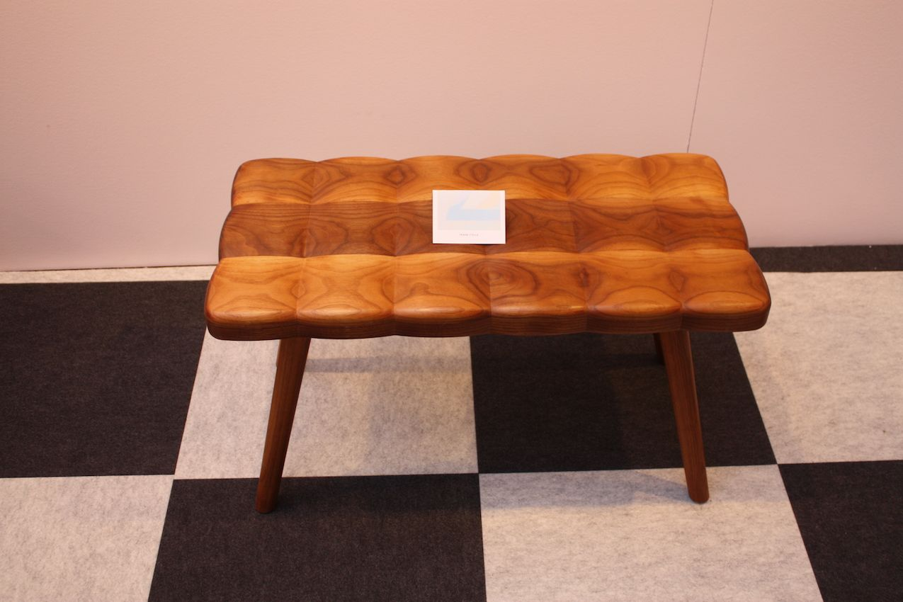 Tufted wood bench from joy charbonneau
