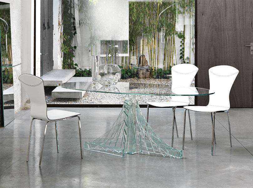 40 Glass Dining Room Tables To Revamp With From Rectangle  : Unique glass dining table from www.homedit.com size 808 x 600 jpeg 126kB