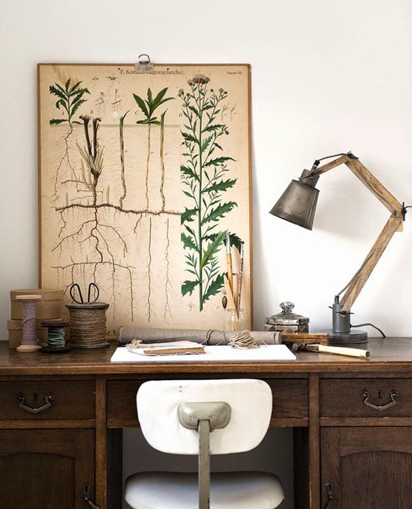 Vintage inspired desk office