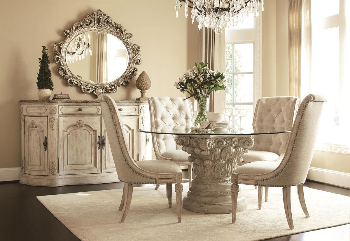 vintage inspired dining room - Square Dining Room Table Sets