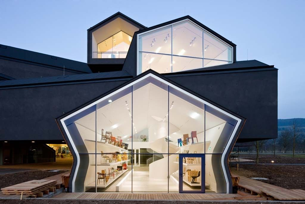 Vitrahaus stacked building by herzog and de meuron