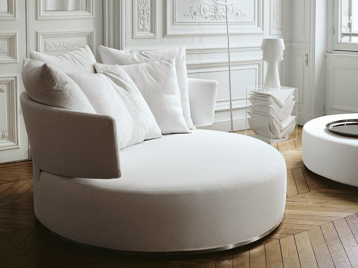 Style Roundup Decorating With Round Sofas And Couches