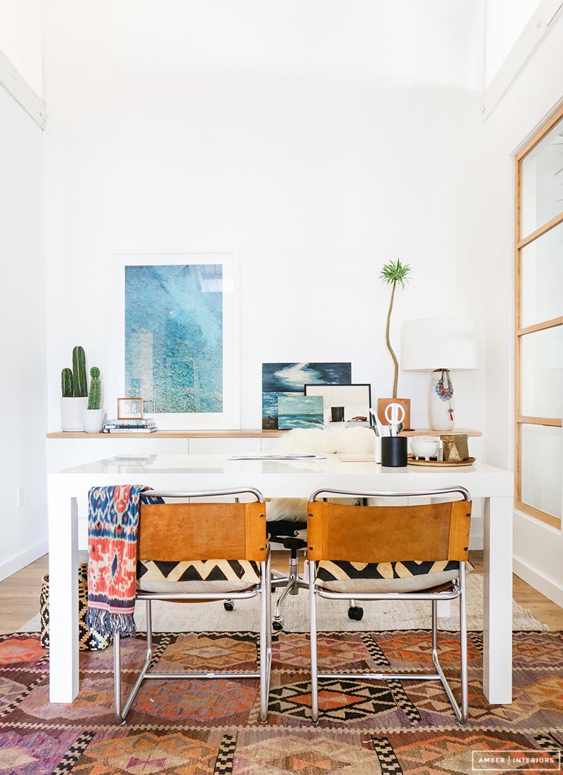 White table used like desk
