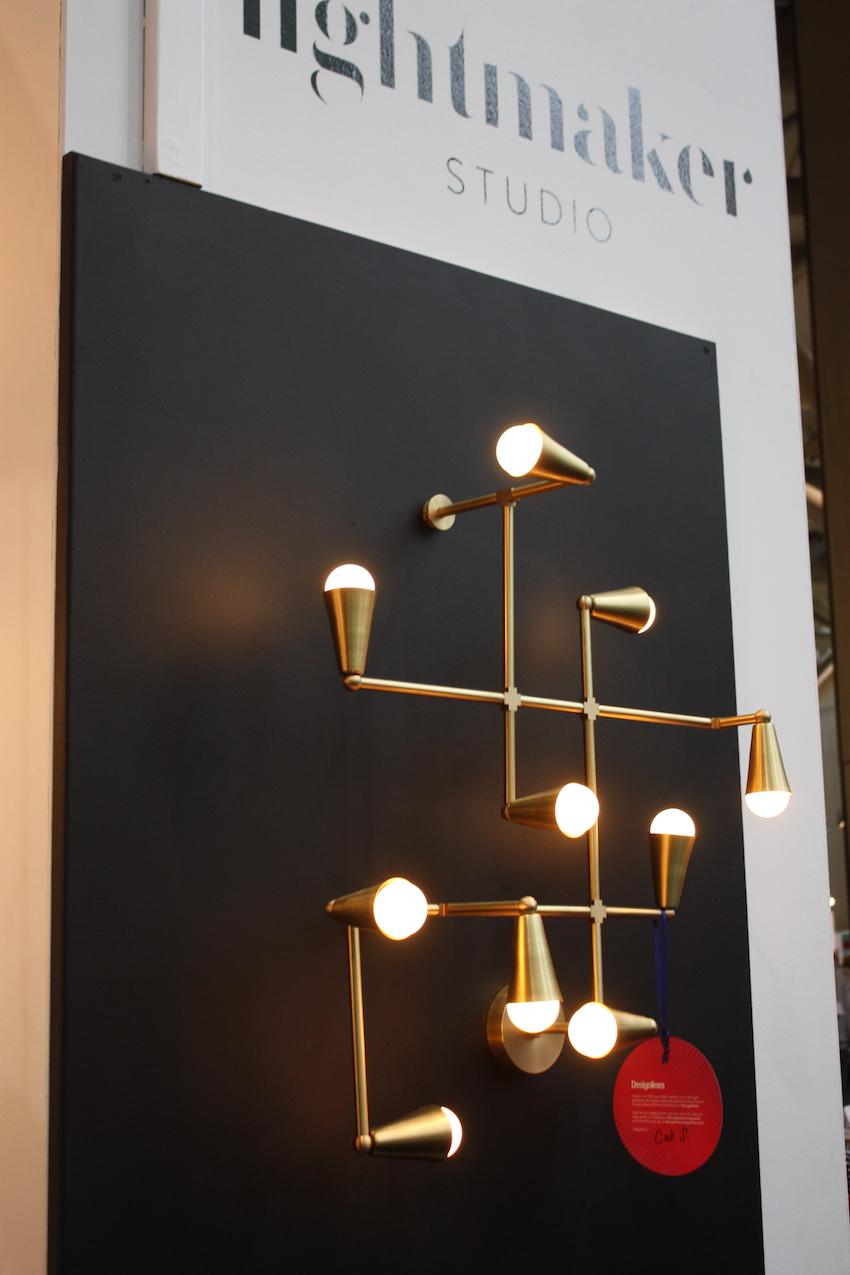 Zig-Zag brass lighting fixture