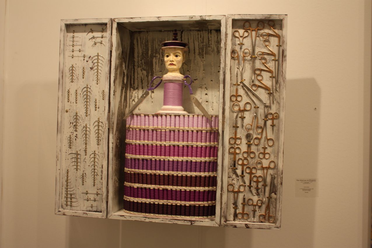 Another example of the mundane transformed into art is this curio piece by Cuban artist Carlos Estevez.