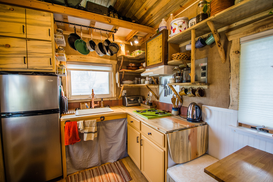 Innovative Storage Key In A Tiny House Floor Plan