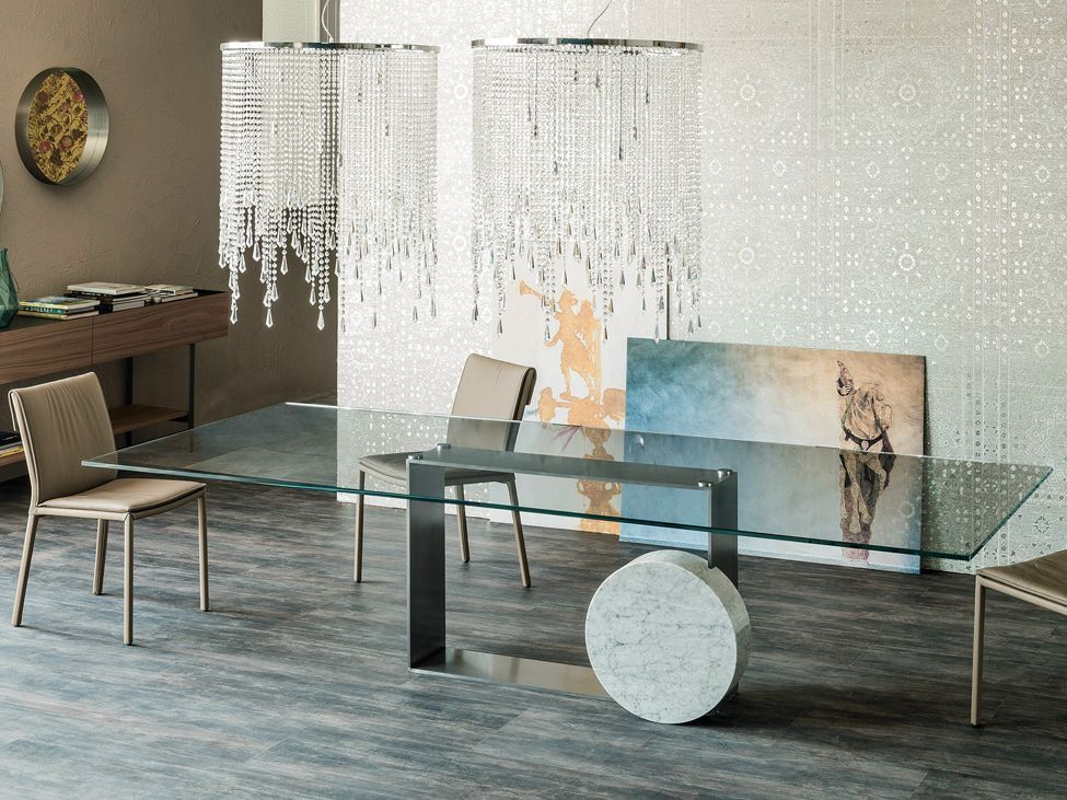 Museum Rectangular Cattelan Italia Glass Table