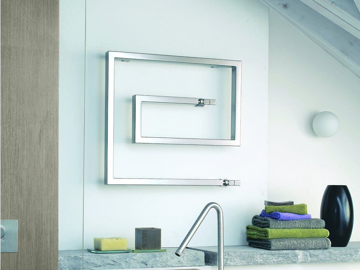 square snake towel warmer design
