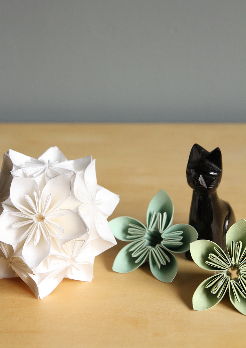 Step By Step Diagram Template: Step-By-Step Kusudama Flower Ball
