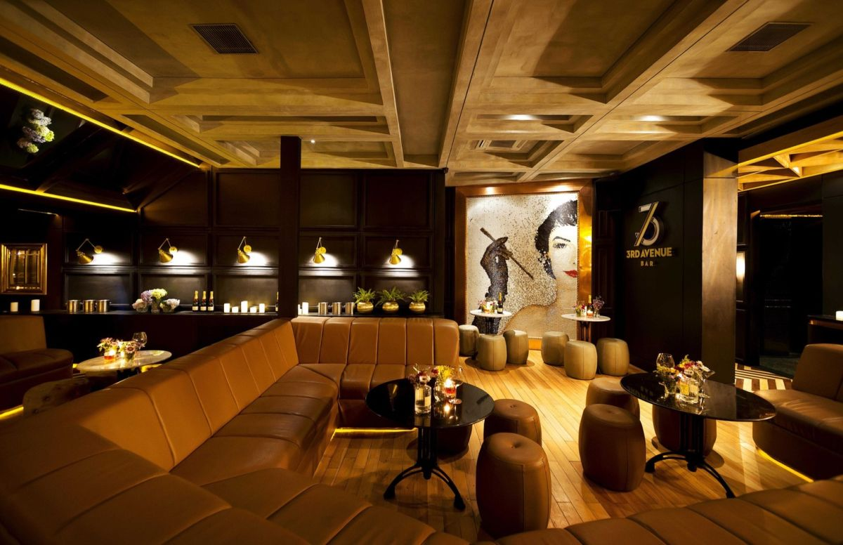 A classy whiskey bar with skyline views of jakarta for Lounge designs