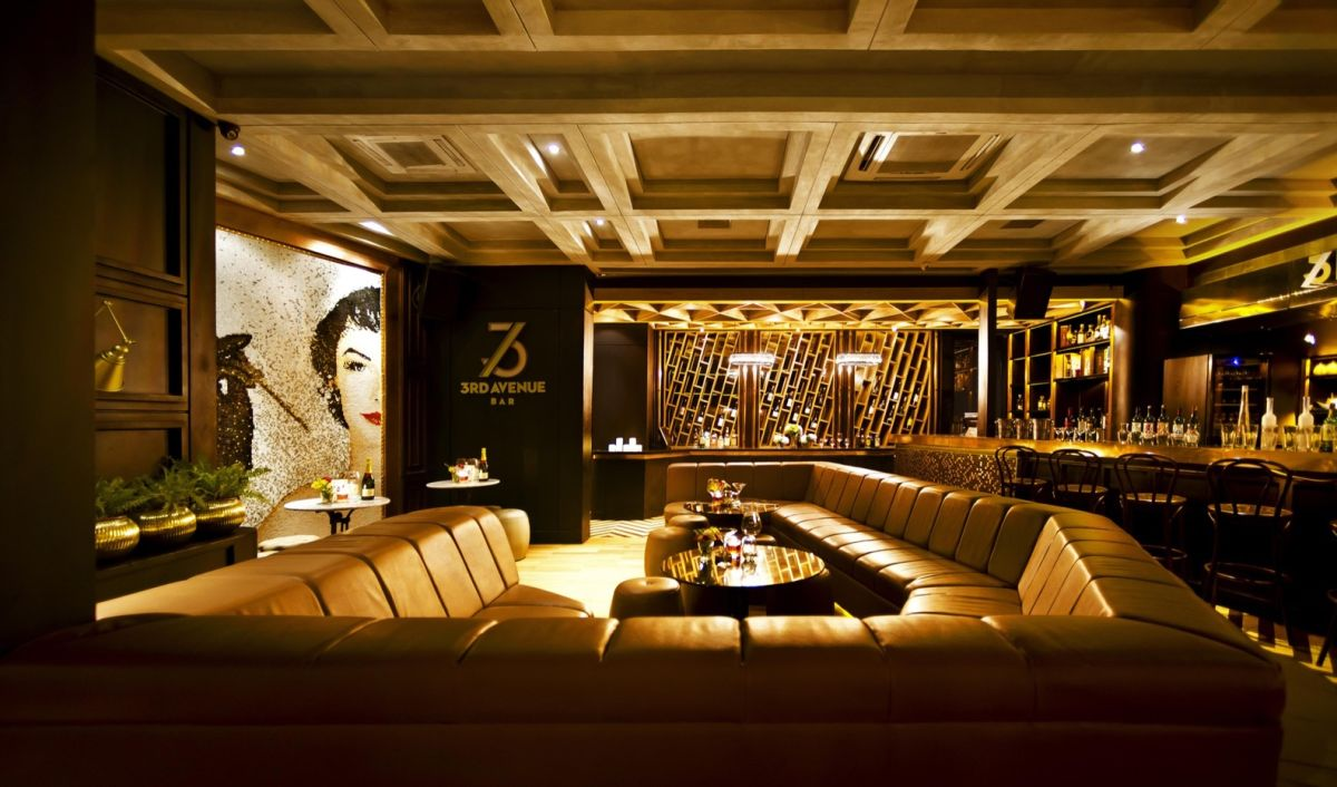 3rd Avenue Bar And Lounge Bar Area With Wood Ceiling