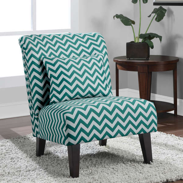 Accent chevron chairs