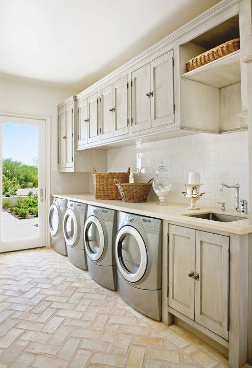 Beachy inspired laundry room