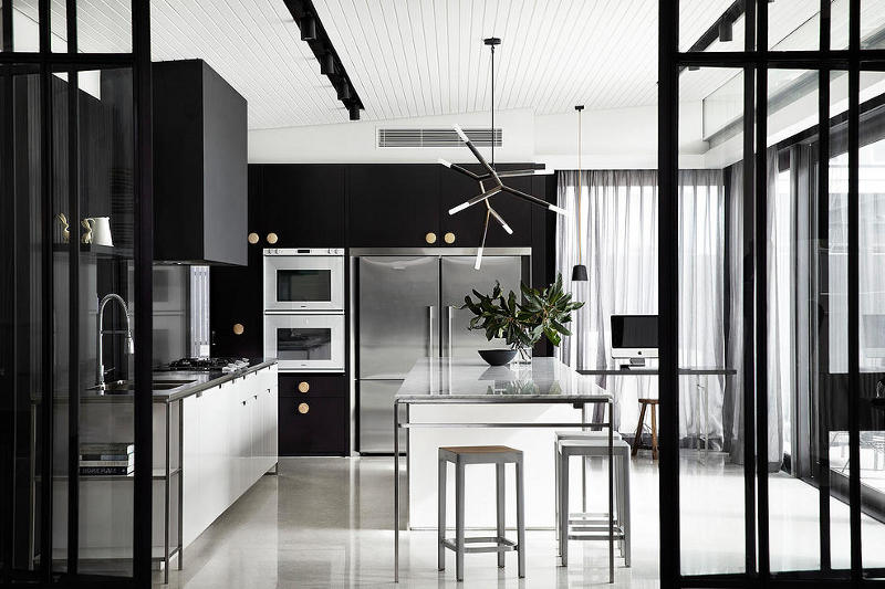 Black masculine kitchen design