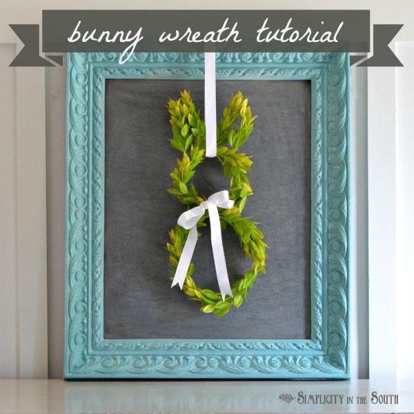 Bunny framed wreath