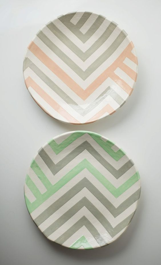 Chevron dishes