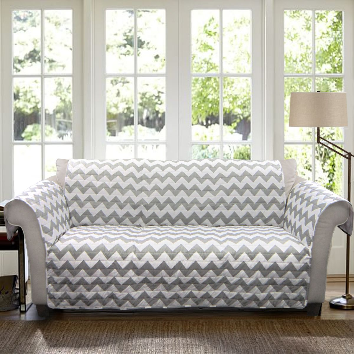 Chevron sofa two seater