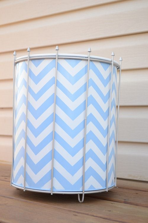 Chevron trash bins