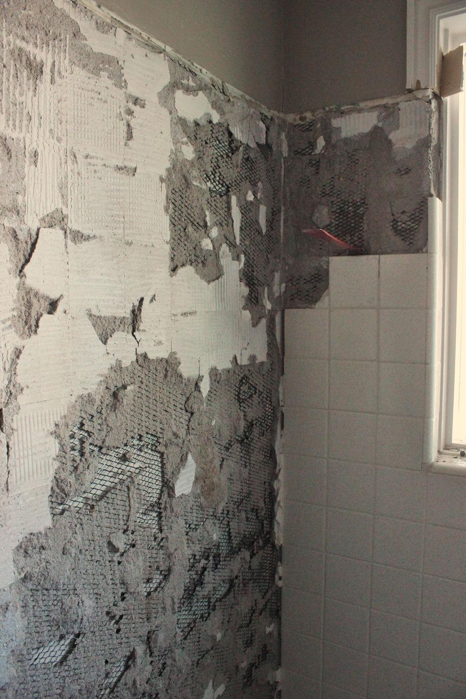 Clear out fallen tiles