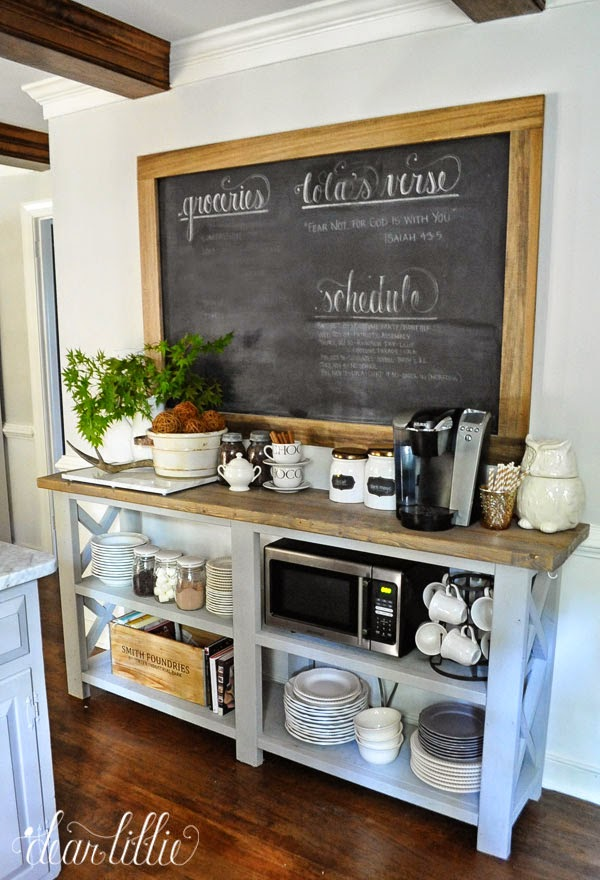 Coffee station chalkboard frame